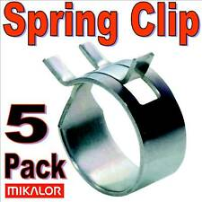 5 x 15mm SPRING TYPE HOSE CLAMP MIKALOR FUEL CLIPS TUBE