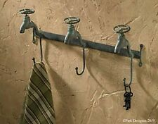 Old-time-look WATER FAUCET triple wall hook - for your hats, towels, whatever!