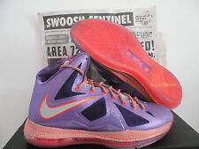 NIKE LEBRON X 10 AS AREA 72 ALL STAR GALAXY LASER PURPLE SZ 18 [583108-500]