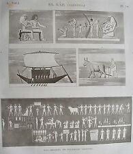 EL KAB (ELETHYIA). (pl. 70, A. vol. I). Bas reliefs de  ...   DESCRIPTION EGYPTE