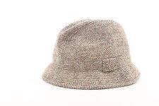 Beige Herringbone Harris Tweed Uomo Tessuto Cappello di lana