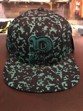 Pink Dolphin COMPOSITION P In Aqua Snapback  Cap Men's Hat NWT Retail $40