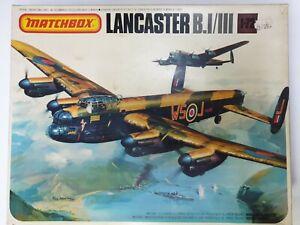 Rare Vintage Matchbox Kit Lancaster B.I/III 1/72