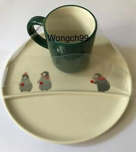 Starbucks Singapore Christmas 2019 Penguins Mug and Saucer