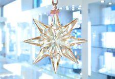 Swarovski 2009 Scs Gold Large Star Christmas Ornament 1026761 Brand New In Box