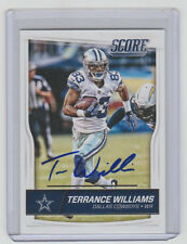 TERRANCE WILLIAMS Cowboys SIGNED 2016 Score Football #91 Autograph ON CARD AUTO