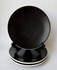 3 Sasaki COLORSTONE BLACK (Matte No Texture) SALAD PLATES by Vignelli Set of 3