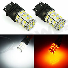 JDM ASTAR 2x 800Lm 3157 Dual Color AX-2835 60SMD White Amber Switchback LED Bulb