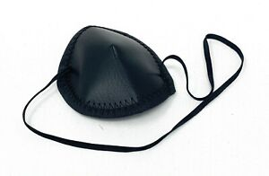 Leader Eye Patch Adult Large Black Strap Vinyl Ophthalmic Injury First Aid USA