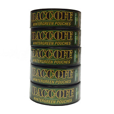 BACCOFF Snuff Wintergreen Pouch Mountain Tobacco & Nicotine Free Not Smokey 5 ct