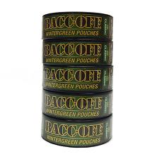 BACCOFF Snuff Wintergreen Pouch Mountain Tobacco & Nicotine Free Not Smokey 5 ct