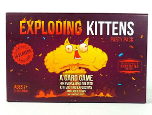 Exploding Kittens Party Pack Card Game 2-10 players Multiplayer  Open Box G1