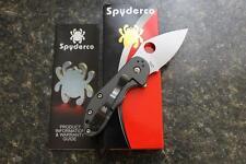 Spyderco C182CFTIP Dice Folding Knife CTS XHP G-10 Carbon Fiber Titanium Handles