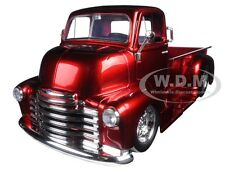 1952 CHEVROLET COE PICKUP TRUCK RED W/ CHROME WHEELS 1/24 MODEL BY JADA 97460