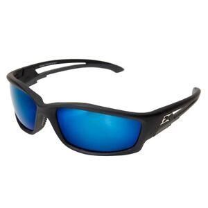 Edge Eyewear TSKAP218 Kazbek Schutzbrille - Schwarz Rahmen - Blau Linse