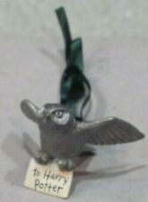 """Harry Potter Hedwig Owl Pewter Ornament Hallmark 2000 1"""", Nf, no box"""
