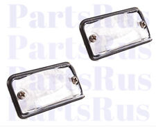 Genuine Mercedes-Benz License Plate Lamp Lens 230820016664 Set of 2