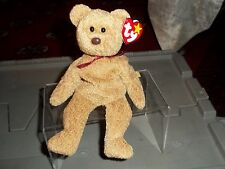 CURLY THE BEAR   TY BEANIE BABY  RETIRED NEW 8 INCHES