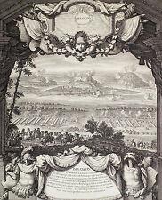 BESANCON Holländischer Krieg 1674 sehr grosse Ansicht Kupferstich Orig