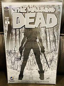 Walking Dead #1 CGC 9.8, Michonne Fighting Walkers, 2015 Sketch Cover Reno WW
