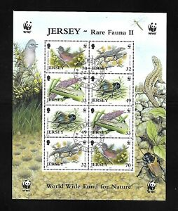 Jersey 2004 WWF Rare Fauna Miniature sheet CTO