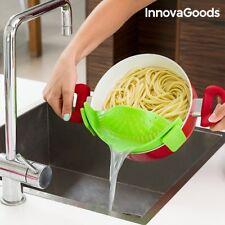 Silikon Abtropfsieb Küchensieb Sieb Nudelsieb Abtropfhilfe Seiher