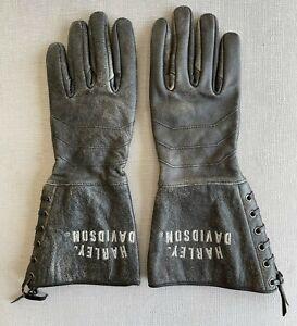 Harley Davidson Leather Gloves Women Medium
