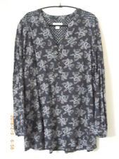 Monsoon Fluid Paisley Denim Blue Blouse Lovely Shape Flattering Easy Fits UK 12