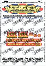 MINNEAPOLIS MOLINE MODEL U TRACTOR DECALS AND OTHERS