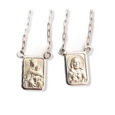 18k Scapular White Gold - Small Medal