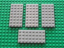 4 x LEGO OldGray plate 4 x 8 ref 3035 / Set 7190 10030 4565 7824 10129 6970 4558