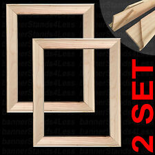 2 SETS - STRETCHER BAR - Artist Painting Frame Canvas Stretcher Bars Set - 16x24