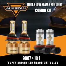 Auxbeam 9007 LED Headlight Kit Hi&Lo+H11 H8 Fog Bulbs for Nissan Frontier 05-18