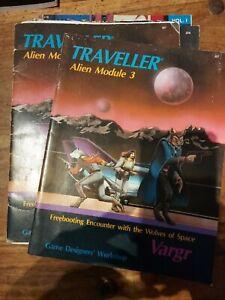 TRAVELLER ALIEN MODULE 1 - VARGR - RPG GDW ROLEPLAYING ROLEPLAY OSR CLASSIC OOP