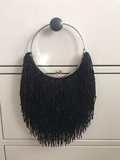 Zara Black Beaded Evening Bag