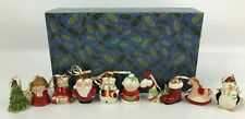 MR. CHRISTMAS Porcelain Ornaments Set With Original Box