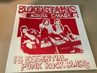 VARIOUS ARTISTS Bloodstains Across Canada ltd red VINYL LP RARE PUNK TRACKS