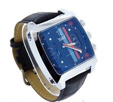 NEU JARAGAR  Herrenuhr RACING BLACK Leather Uhr Automatik SUPER