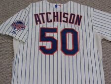 ATCHISON size 48 #50 2013 New York Mets GAME USED  jersey home cream MLB HOLO