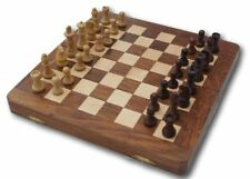 Wooden games compendium includes chess and back gammon