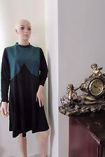 ASOS Curve Seam  Funnel Neck dress 18 Black/Green
