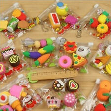 Funny Cute Food Rubber Pencil Eraser Set Stationery Novelty Party Creative