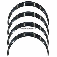 100mm Wide Universal Fender Flares Wheel Arch Extension Arches Trims JDM Set RUM