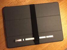 iPad Strap - Phone & Pen Holder with Apple Pencil Case. 25mm Black Elastic