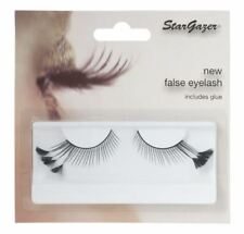 Stargazer False Feather Eyelashes #44 Black with Black Side Feathers