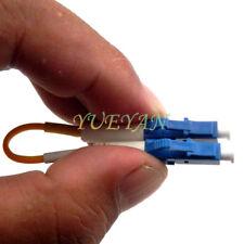 2pcs LC 9/125 Loopback Adapter /Singlemode Loop Back Fiber Optic Cable