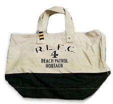 Polo Ralph Lauren Rugby Large Tote Beach Summer Bag Canvas Beach Patrol Montauk