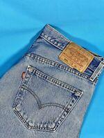 Levi Strauss Mens Designer Jeans Straight Blue Retro 501 W34 L34