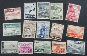 nystamps Iceland Stamp # B7-B13 C21//C31 Mint OG H    S17x514