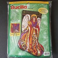 Bucilla Heavenly Angel Christmas Stocking Needlepoint Kit 60771 Barbara Baatz